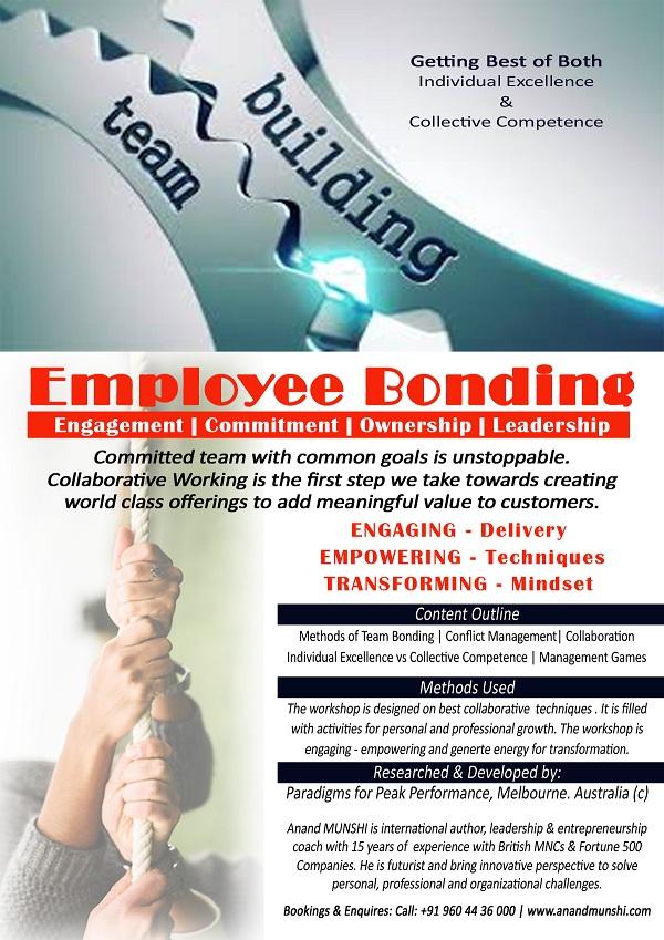 Employee bonding – Corporate Training by Anand Munshi