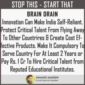 Futurist Keynote Speaker - How To Stop Brain Drain - Anand Munshi