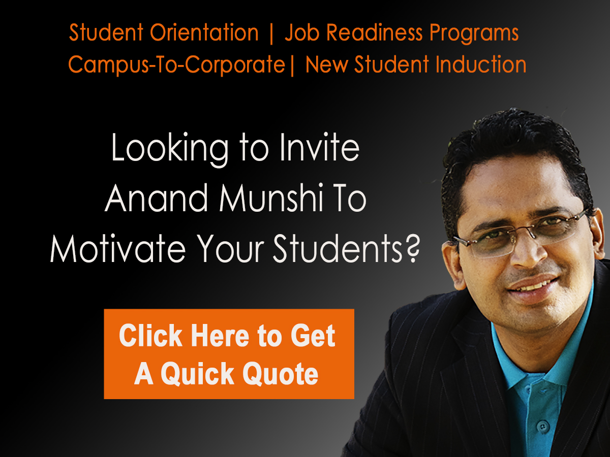 Get a Quick Quote - Student Motivational Speaker Anand Munshi