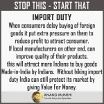 India don't have to hike Import Duty to protect it's market