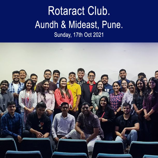 Session for Rotaract Club Pune by Motivational Speaker Anand Munshi
