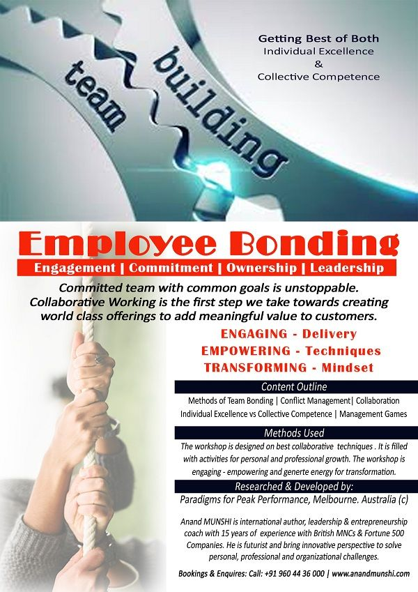 Employee bonding - Corporate Training by Anand Munshi